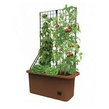 Space Saving Mobile Garden Planter With Trellis & Self Watering Well Vegetable