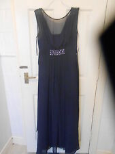 BHS WEDDING COLLECTION WOMENS UK SIZE 10 PURPLE FULL LENGTH DRESS (EX COND)