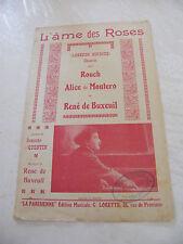 Partition L'âme des roses Légende Hindoue Rouch Alice de montero René de Buxeuil