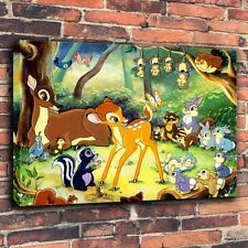 Art Print Oil Paintings on Canvas Children Room Wall Decor - Disney Bambi #1226