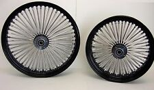 DNA BLACK MAMMOTH 52 FAT SPOKE WHEELS 21x3.0 & 18x5.5 DYNA STREET BOB HARLEY