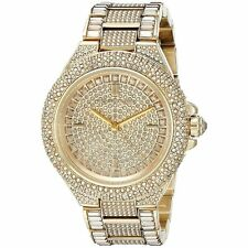 NEW Michael Kors MK5720 Camille Gold Tone Pave Glitz Ladies Watch
