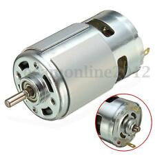 775 DC 12V-36V 3500-9000RPM Elettrico Motore Ball Bearing Large Torque Nuovo