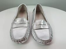 WITCHERY sz 39 womens silver BELLE moccasin Leather shoes