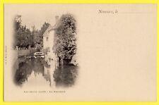 CPA 77 - NEMOURS en 1900 (Seine et Marne) Les petits FOSSÉS La BRASSERIE