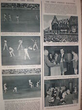 Photo article cricket start of final test England v New Zealand at Oval 1949