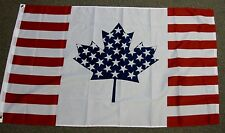 USA CANADA FRIENDSHIP FLAG 3X5 AMERICAN CANADIAN F453