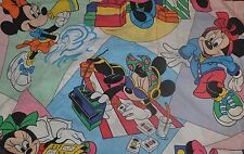 Vintage 80s Walt Disney Company Minnie Mouse Twin Fitted Sheet & Pillow Case