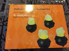 New Department 56 Dept Halloween LIT CAULDRONS Set of 4 Cauldron 56.809400