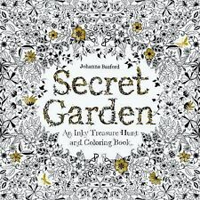 Secret Garden: An Inky Treasure Hunt and Coloring Book, Basford, Johanna, New Bo