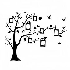 Home Decor Photo Frame Black Tree Removable Decal Room Wall Sticker Vinyl New