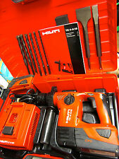 Hilti TE4-A18 CPC CORDLESS HAMMER DRILL, PREOWNED LOADED W/ BITS & CHISELS