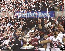 BOB STOOPS OKLAHOMA SOONERS SIGNED 8X10 PHOTO W/COA #1