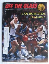 """1986 Dec. 7 """"Off The Glass' Magazine, College Basketball, 112 pages"""