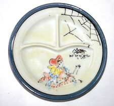 VINTAGE  DOLL DISH * GRILL OR DIVIDED PLATE * LITTLE MISS MUFFET * JAPAN