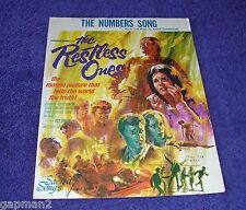 """The Restless Ones 1965 Sheet Music """"The Numbers Song"""" Johnny Crawford"""