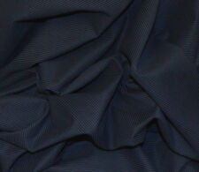 NAVY BLUE ITALIAN COTTON HERRINGBONE WHITE PINSTRIPE FABRIC BY THE METRE