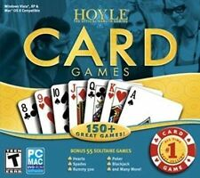 HOYLE CARD GAMES 2008   150+ Great Games  Hearts Spades Poker Solitaire   NEW