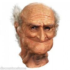 DELUXE OLD MAN MALE OLDIE FULL VINYL MASK ADULT HALLOWEEN COSTUME ACCESSORY
