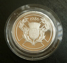XIII Commonwealth Games Scotland Sterling Silver Proof £2 Coin 1986