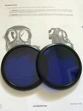S10 GAS MASK  RESPIRATOR BLUE LENSES