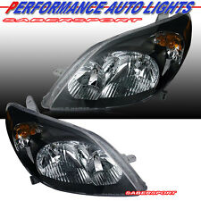 Pair Brand New Eagle Eyes Black Housing Headlights for 2003-2008 Toyota Matrix