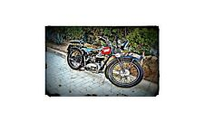 1911 Peugeot P111 Bike Motorcycle A4 Photo Poster