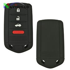 2 Pcs Silicone Rubber Keyless Entry Cover holder for Acura TL ZDX RDX ILX Black