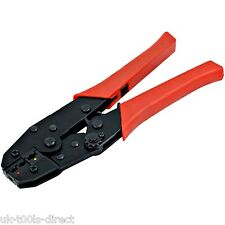 "Ratchet Crimping Tool Pliers 9"" - 230mm Electrical Terminal Crimper"