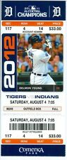 2012 Tigers vs Indians Ticket: Doug Fister takes perfect game into 6th inning