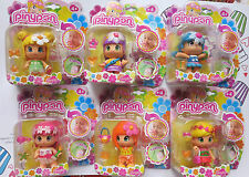 New In Pack Famosa Pinypon Dolls Set 6 Flower Scented Dolls with Tattoo Stickers