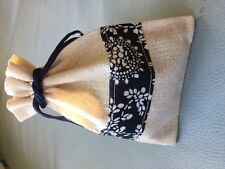Hand Crafted Lavender Sachets,Organic Lavender Buds,in linen pouch bags