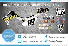 HONDA CRF CR X 85 150 125 250 450 MOTOCROSS GRAPHICS KIT All Years and Models