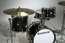 Ludwig Questlove Breakbeats 4pc Black Gold Sparkle Drum Kit w/ Bags (LC179X-016)