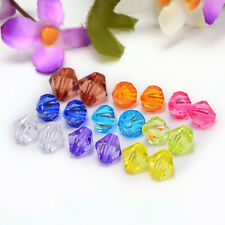 Free shipping charm for 25pcs transparent 10mm Bicone Beads  Mixed color