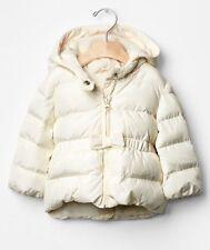 GAP Baby / Toddler Girl Size 18-24 Months Ivory Peplum Warmest Puffer Coat w/Bow
