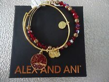 Alex and Ani WINE BELIEVE SET OF 2 COLOR INFUSION Bangles Gold W/Tag Card & Box