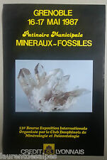 Exposition minéraux fossiles gemmes Grenoble - 3 affiches/posters 1987 1988 1991