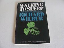 1969 WALKING TO SLEEP New Poems and Translations by Richard Wilbur Poetry Book
