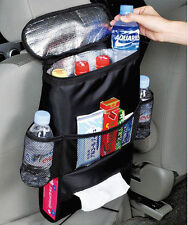 Car Seat Back Multi-Pocket Storage Bag Tidy Organizer Cool Hot Travel Holder