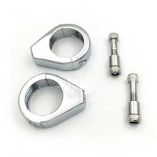 Motorcycle Chrome Turn Signal Clamps For Harley Softail Mount Bracket 41Mm Fork