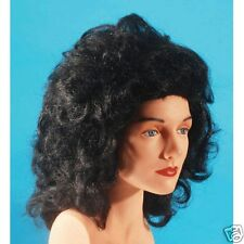 Black Soft Curl Wig Lady  Party Dress up Halloween Costume y
