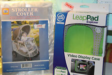 LeapFrog pad video display case New, stroller cover large New lot