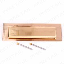 250mm SOLID BRASS GRAVITY LETTER BOX POSTAL PLATE Front Door Cover Tidy Flap