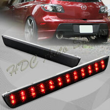 For 2004-2009 Mazda 3 JDM Smoke Lens LED Rear Bumper Reflector Brake Light Lamp