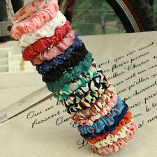 Hot Sell 10pcs Elastic Polka Dot Print Hair Band Rope Scrunchie Ponytail Holders