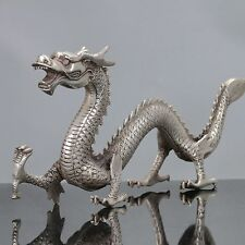 Old Chinese Tibet Silver Handwork Chinese Dragon Statue C551