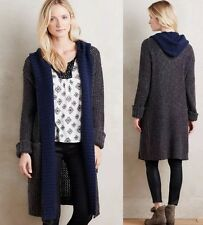 NEW Anthropologie Sleeping On Snow Hooded Lodge Cardigan Sweater Coat Size XS P