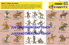 Britains swoppets cow-boys années 1960 affiche A3 pub shop display signe notice
