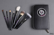 Hello Kitty 7pcs cosmetic eye brow brush set in leather pouch